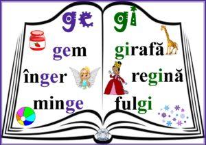 Grupurile de litere ge, gi