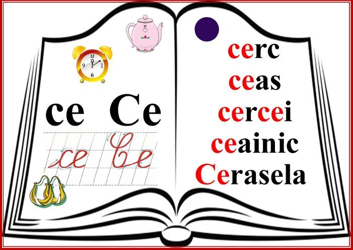 grupurile de litere - grupul CE