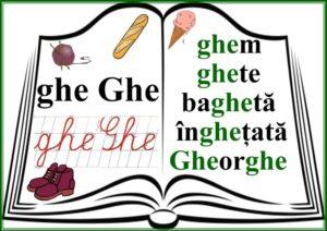 grupurile de litere - grupul GHE