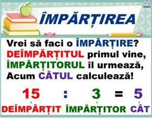 Planșe terminologie matematică - Împărțirea