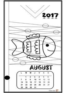 Calendar de colorat - AUGUST