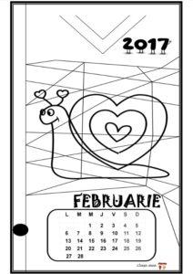 Calendar de colorat - FEBRUARIE