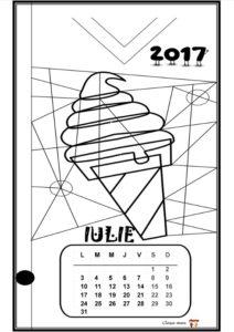 Calendar de colorat - IULIE