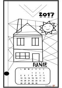 Calendar de colorat - IUNIE
