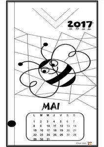 Calendar de colorat - MAI
