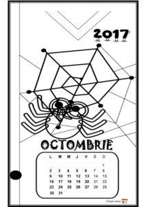Calendar de colorat - OCTOMBRIE