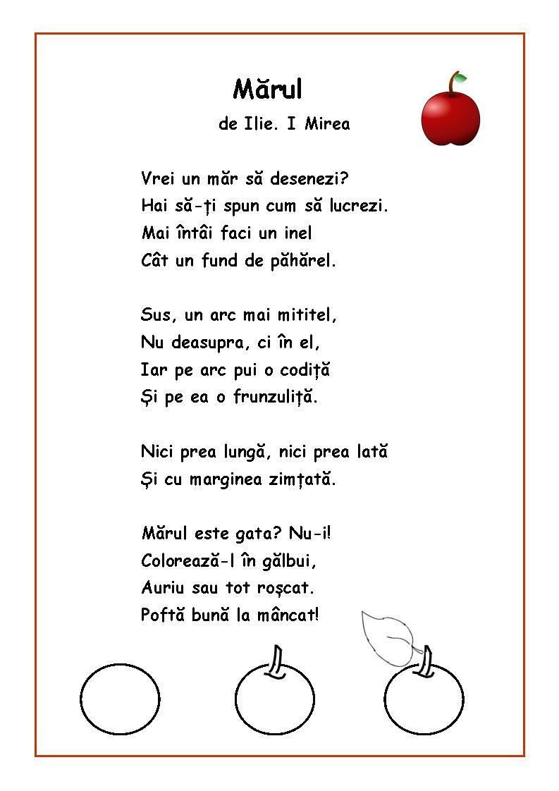 Citim, desenăm, colorăm - Mărul