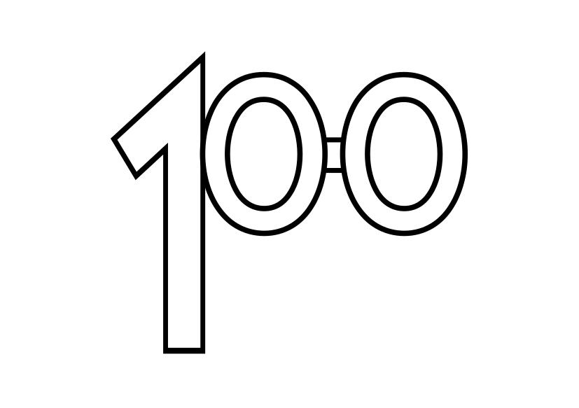 Ochelari cu numărul 100