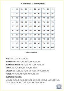 Colorează și descoperă - Cifre