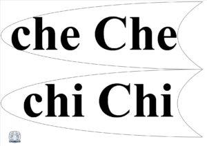 Literele și grupurile de litere - Petală che, chi