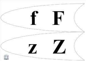 Literele și grupurile de litere - Petală f, z