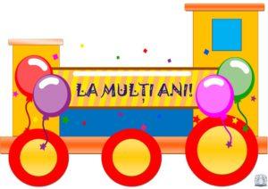 Trenuleț aniversar. Locomotiva