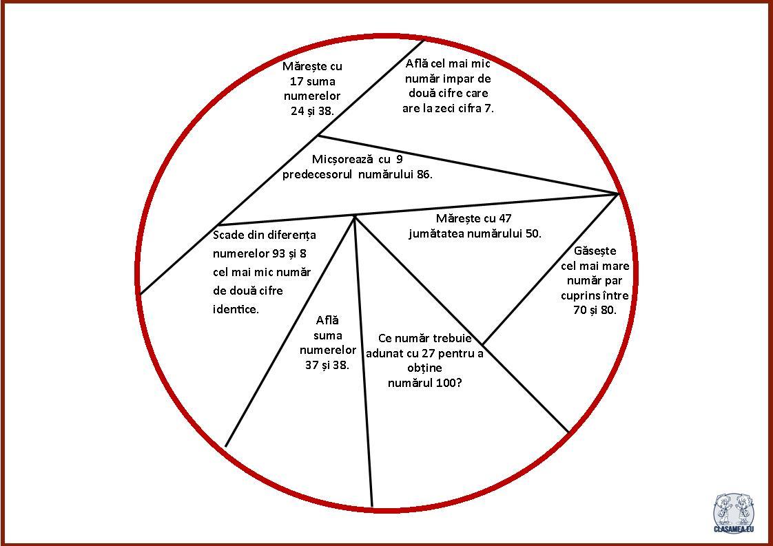 Noțiuni de geometrie.Cercul - puzzle