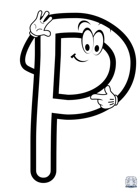 Litere prietenoase - Litera P