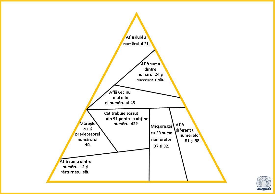 Noțiuni de geometrie. Triunghiul- puzzle