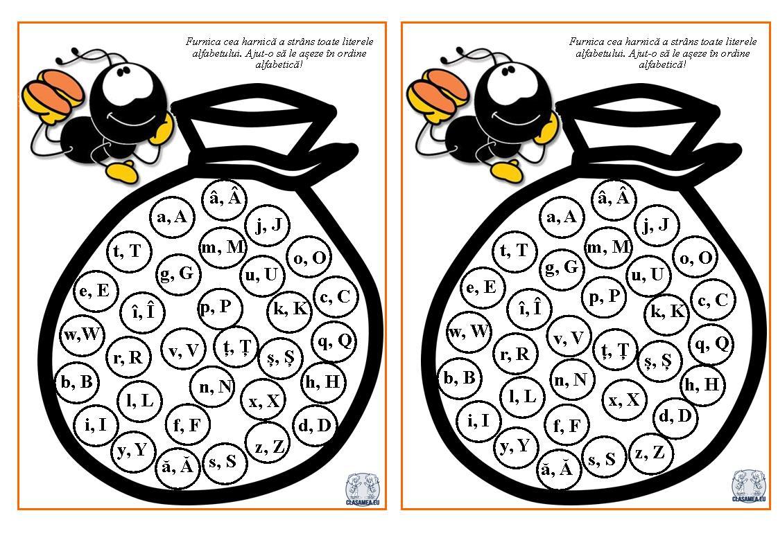 Vocale și consoane -Furnica și alfabetul