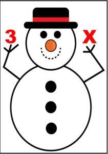 Om de zăpadă - Înmulțirea cu 3