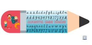 Creioane cu literele alfabetului. Literele de mână
