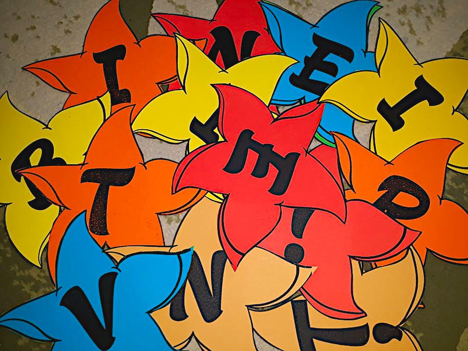 litere pe steluțe