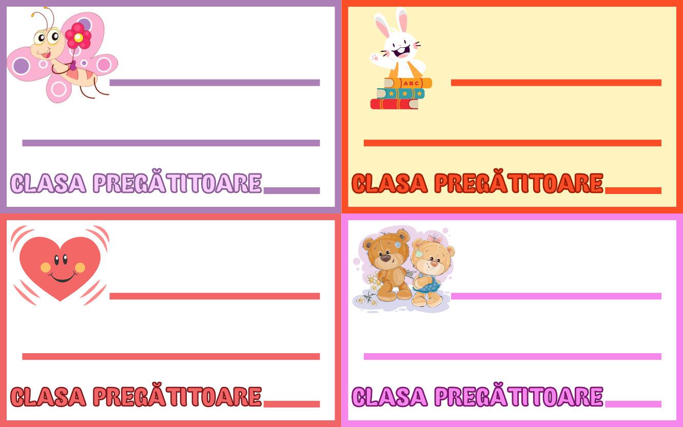 Ecusoane personalizate pentru clasa pregătitoare